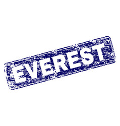 Grunge everest framed rounded rectangle stamp vector