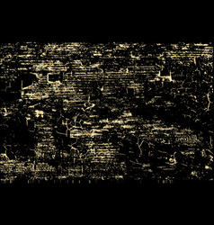 Grunge gold texture isolated on black vector