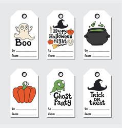 halloween gift tags printable tags collection vector image