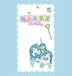 Happy birthday card for little girl vector