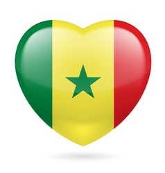 Heart icon of Senegal vector image vector image