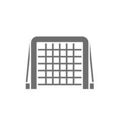Hockey gates gray icon isolated on white vector