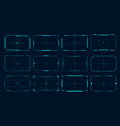 hud frame futuristic game target borders sci-fi vector image