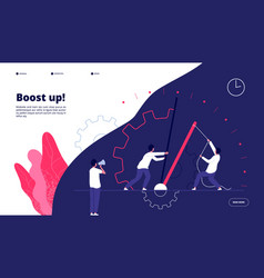 investment landing page boost your business new vector image