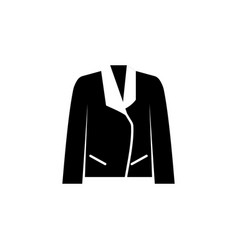 jacket icon on white background clothing or vector image