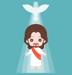 Jesus christ with holy spirit vector