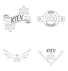 Kiev Ukraine logo design template elements vector image