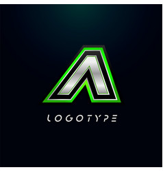 letter a for video game logo and super hero vector image