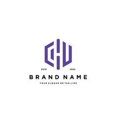 Letter chu logo design vector