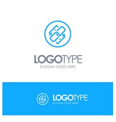 Link chain url connection link blue outline logo vector