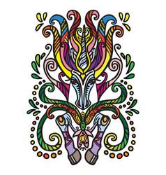 Magic doodle unicorn vector