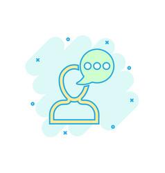 Man head mind thinking icon in comic style speech vector