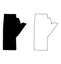 Manitoba canada map vector