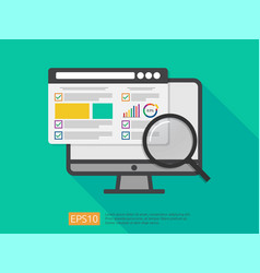 Market business research strategy data analysis vector