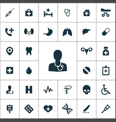 Medical icons universal set for web and ui vector