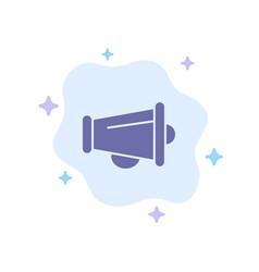 Megaphone announce marketing speaker blue icon on vector