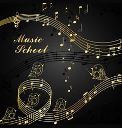 Musical design elements vector