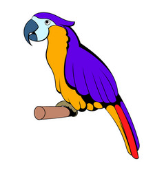 Parrot icon cartoon vector