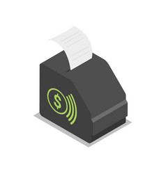 Pos terminal isometric 3d icon vector