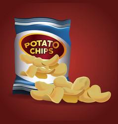 potato chips snacks vector image