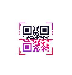 Qr code scan vector
