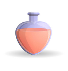 red heart flask icon cartoon style vector image