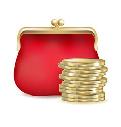 Red Purse vector image