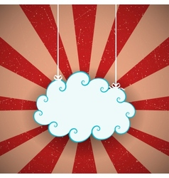 Retro Cloud vector image