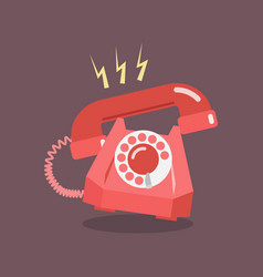 Retro dial telephone are ringing vector