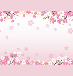 Seamless background with cherry blossoms vector