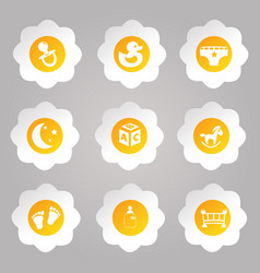 Set of kids icons vector