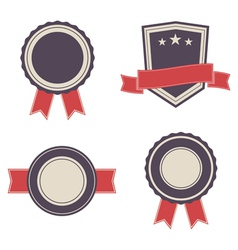 set of vintage badges and lables vector image