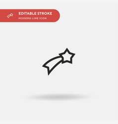 shooting star simple icon vector image
