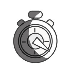 Silhouette pocket clock to delivery pack at time vector