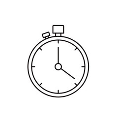 Sketch silhouette stopwatch with timer vector