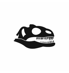 Skull of dinosaur icon simple style vector image