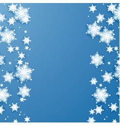 snowflake falling at edges paper abstract vector image