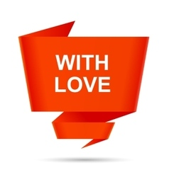 speech bubble with love design element sign symbol vector image