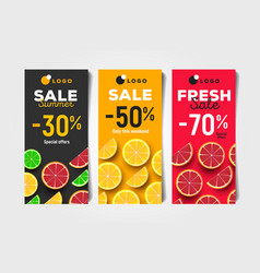 Summer sale discount advertising flayers with vector