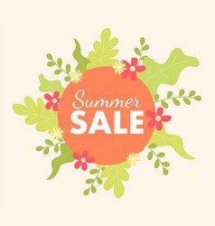 summer sale icon vector image