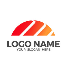 sunrise logo design vector image