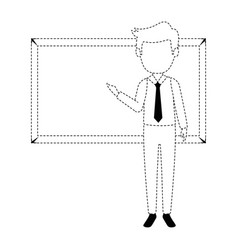 teacher male with chalkboard avatar character vector image