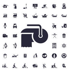 Toilet paper icon vector