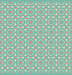 Vintage seamless pattern green ethno folk vector