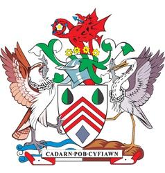 Westglamorgan county coa vector