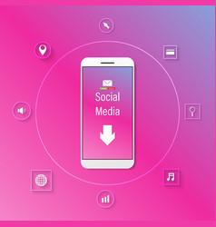 White phone social vector