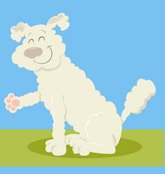 White poodle dog cartoon vector