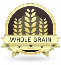 whole grain food label vector image vector image