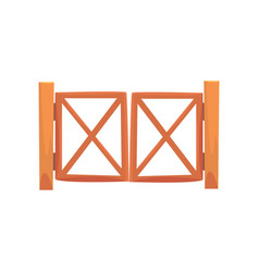 Wooden farm gates from crossed planking cartoon vector