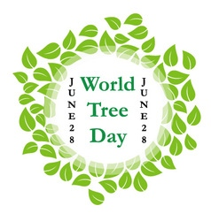 World tree day june 28 vector